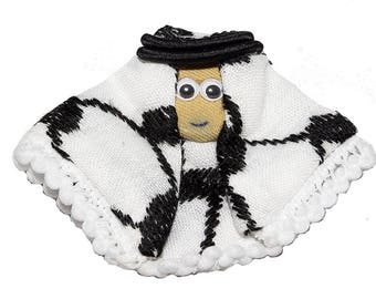 """Handmade and Hand Stitched - 100% Cotton - Arabian Magnet - (3.5"""" x 2.9"""" x 0.2"""") 1 Piece"""