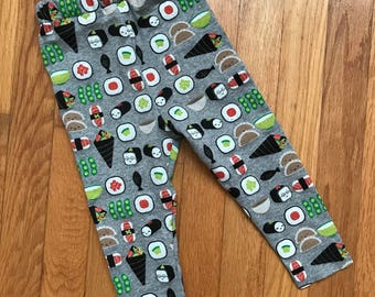Kawaii sushi leggings