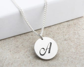Engraved Initial Pendant