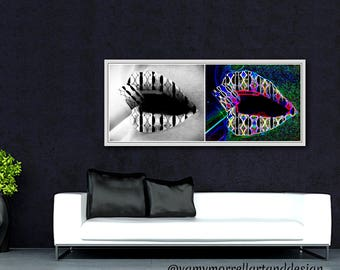 Giclée 2 in 1 or individual Print-Abstract Art Print-Wall Art-Decoration-Artwork by Yamy Morrell