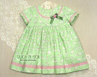 Toddler Girls Dress | Toddler Girl Clothes | Toddler Dress | Baby Girls Clothing | First Birthday | Empire Dress | Repro Fabric