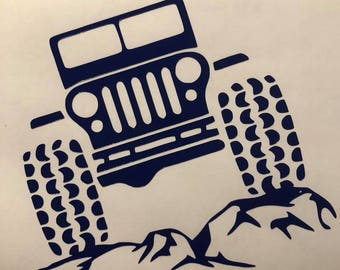 Off Road Jeep Decal