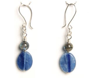Kyanite and Labradorite Earrings