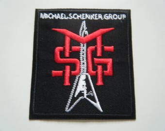 Michael Schenker Group patch MSG embroidered iron on badge mcauley UFO band logo new
