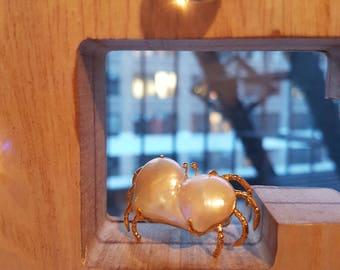 Baroque Pearl Crab Ring 20170003