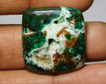AAA quality Druzy Chrysocolla gemstone Cabochon Very Gorgeous looking Excellent Quality handmade Gemstone Top quality 42.80cts (26x25x5)mm