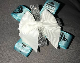 Silver Bell Christmas Bow