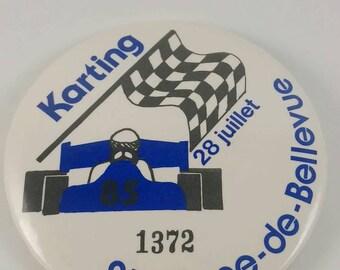 Vintage Karting pinback button