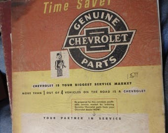 1952 chevrolet  parts catalog Ready reference-time saver