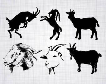 Download Goat dxf   Etsy