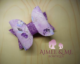 Lilac Flower Bow