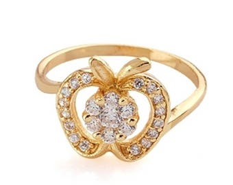 BestOfBijoux® Apple Design - Women Ring - Cubic Zirconia