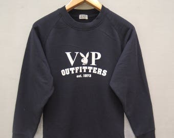 Vintage Playboy Big Logo Pull Over Sweatshirt Designer Fashion Size M