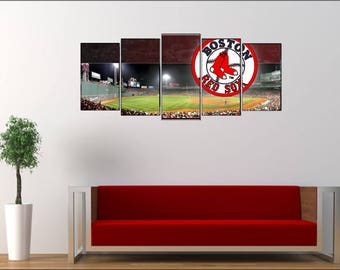 5 Panel Wall Sign - Boston Redsox