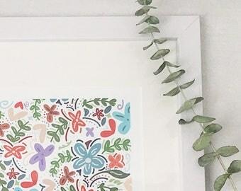 Multi-Color Floral Print