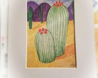 Barrel Cactus Flowers print
