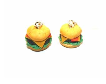 Earrings - burgers