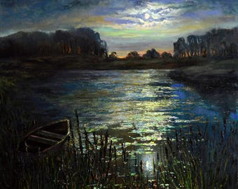 Painting by lunar night oil