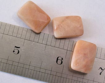 13 x 18mm Faceted Light Peach Pink Aventurine Agate Rectangle Beads, Genuine Semi Precious Gemstone Beads,Faceted Flat Agate Beads (APK-028)