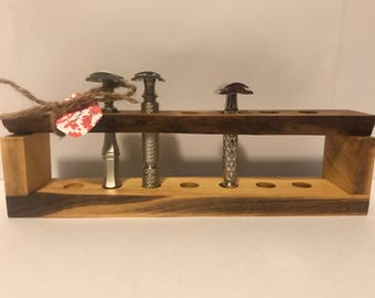 Walnut Safety Razor Stand #5