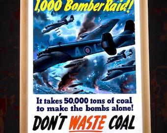 Printable poster - WW2 American Bomber Propaganda Poster Replica, ww2 bomber, wwii bomber, ww2 aircraft, wwii aviation, ww2 aviator, ww2 us