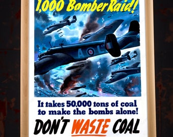 WW2 American Bomber Propaganda Poster Reproduction, world war 2 poster, us propaganda, wwii propaganda, propaganda poster, poster propaganda