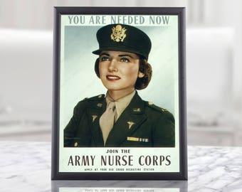Nurse Retirement Gift Idea - World War 2 Poster Reproduction, nurse office decor, keep calm nurse on, nurse superhero, nursing poster, art