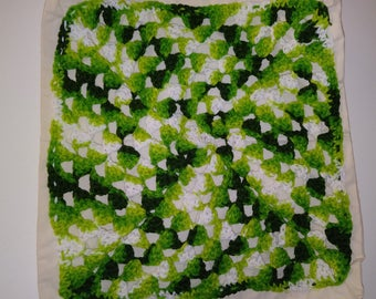 Tote Bag with Green Granny Square