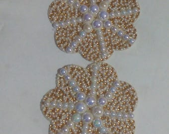Champagne and pearls nipple pasties
