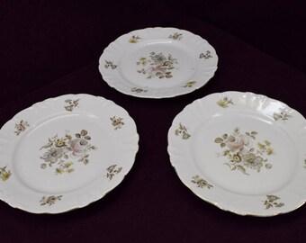 "Three Winterling Empress dinner plates 10-1/4"""