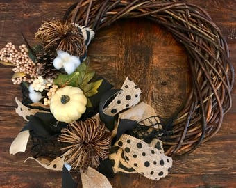 Poke-a-dot fall wreath