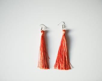 Tassel Earrings - Light Orange
