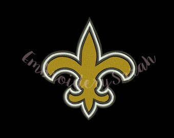 New Orleans Saints Embroidery design.*6 Size *8 formats machine embroidery - Instant Download machine embroidery pattern