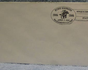 150th Anniversary Pony Express Hand-Cancelled Letter USPS Sacramento