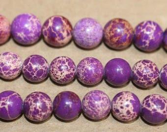 15 Inches Full strand,Purple Sea Sediment Jasper round beads 6mm 8mm 10mm 12mm beads,loose beads,semi-precious stone
