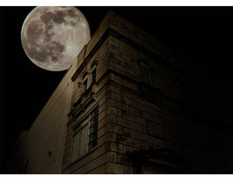 Landscape Photography - Gothic Moon, Industrial, Moon, Space, Prints, Canvas