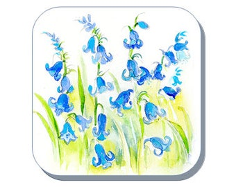 Bluebells British Wild Flower Collection (Corked Back). From an original Sheila Gill Watercolour Painting
