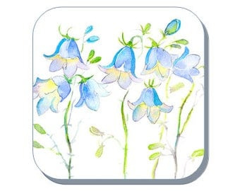 Harebell British Wild Flower Collection (Corked Back). From an original Sheila Gill Watercolour Painting