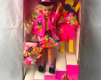1991 Mattel Inc Made in the USA - Staci Littlest Sister of Barbie 8""