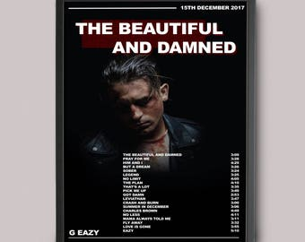 G Eazy The Beautiful And Damned Custom Poster // Instant Download // Printable