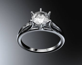 Solitaire Diamond Engagement Ring #7907