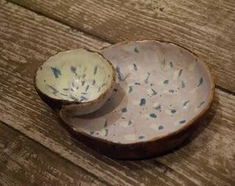Ceramic Bowl, Hand Made, Pottery Bowl, Naive Art