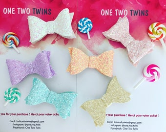 Candy Bow Glitter x 2