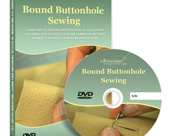 Bound Buttonhole Sewing Video Lesson DVD