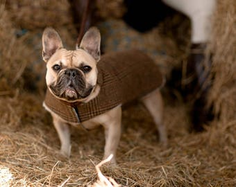 Bespoke Tweed Dog Coat - size SMALL