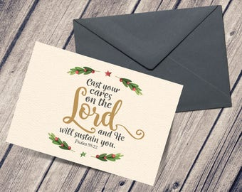 Cast Your Cares on the Lord - Postcard & Envelope