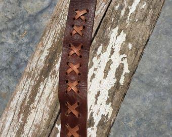 Men's leather wrist cuff