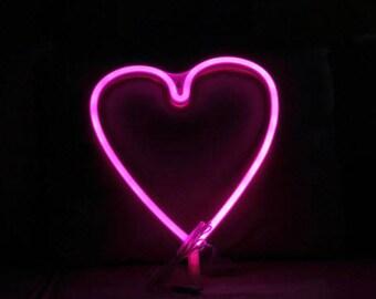 Cordless Heart LED Pink Light