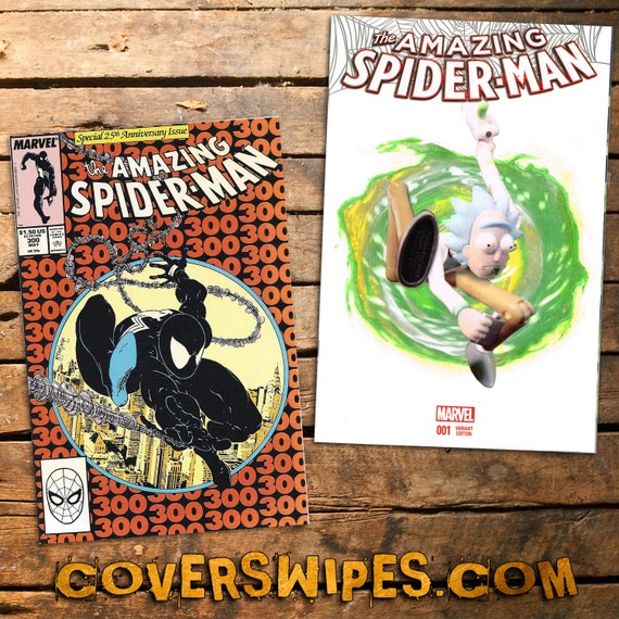 Rick and Morty Amazing Spider-Man #1 Blank Sketch Cover