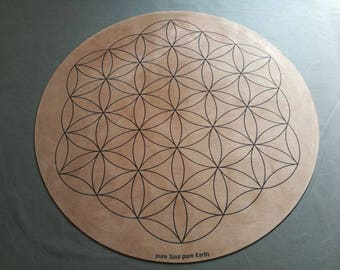 Flower Of life Round Yoga Mat